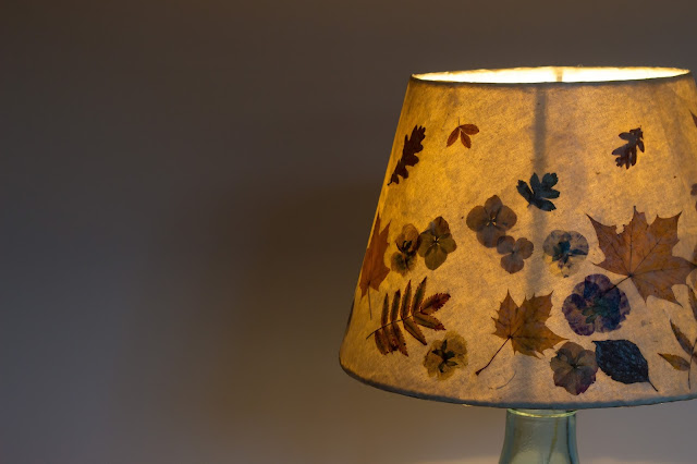 Autumn leaf  lampshade