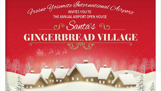 Gingerbread Village at the Fresno Airport