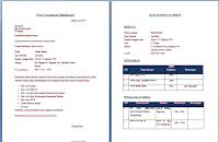 Contoh Lamaran Kerja dan CV