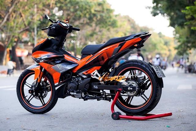 Sơn tem đấu Exciter 150 màu cam đen cực đẹp