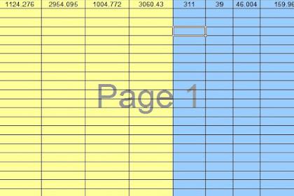 Form perhitungan sudut (bearing) dari 2 titik koordinat XLS