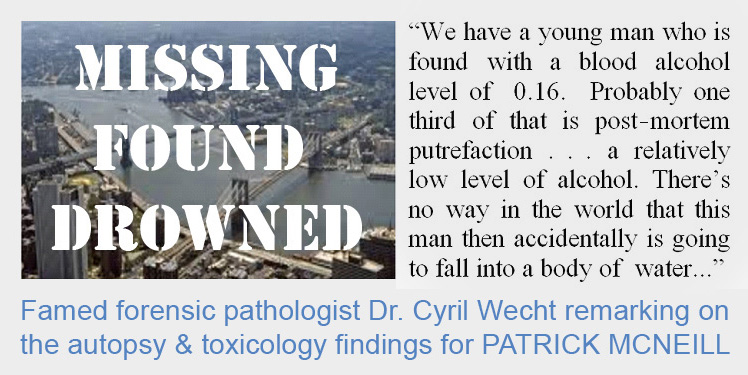"Acclaimed forensic pathologist says ""no way in the world"" Patrick McNeill accidentally drowned"
