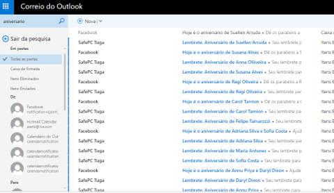 Como desativar os lembretes de aniversário do Outlook.com