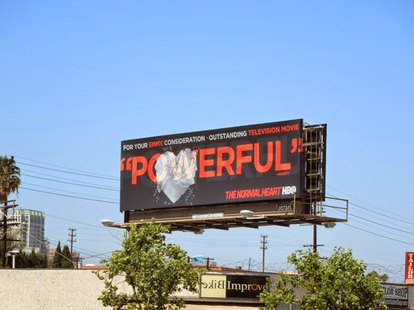 Normal Heart Powerful Emmy 2014 billboard