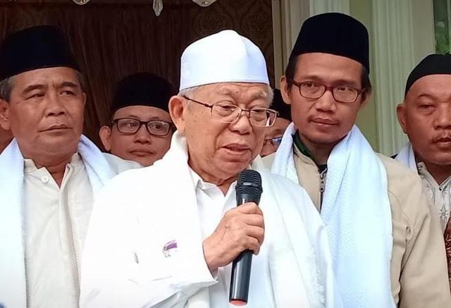 Ma'ruf Amin Ditolak Salah Satu Ponpes di Garut