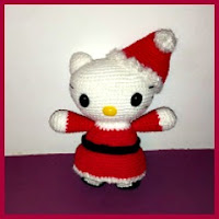 Kitty mamá noel amigurumi