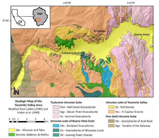 Yosemite National Park valley geology field trip glacier granite Sierra Nevada California