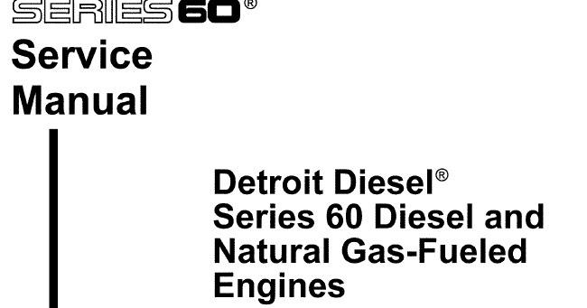 Datos Tecnicos Diesel: Manual Detroit Serie 60