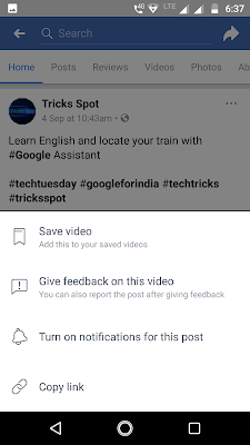 Copy Facebook Video Link