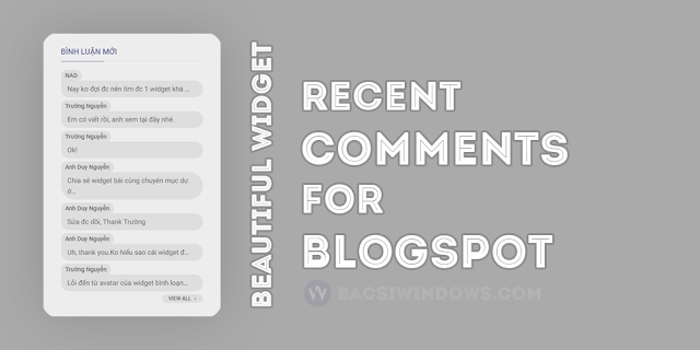 Recent Comments Mở Rộng Cho Blogspot