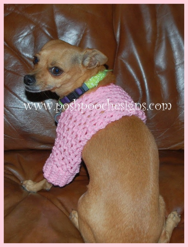 Posh Pooch Designs Dog Clothes Small Dog Shrug Crochet Pattern