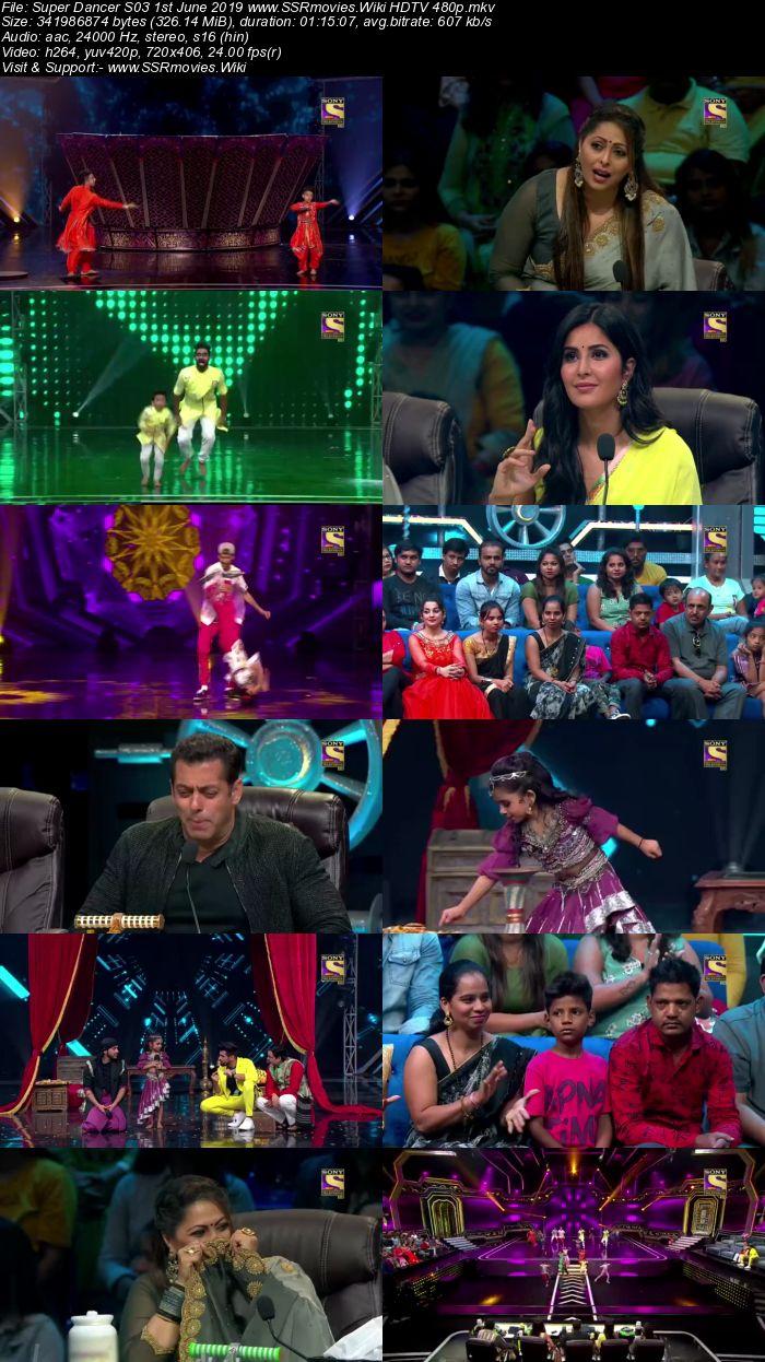 Super Dancer S03 1st June 2019 HDTV 480p Full Show Download