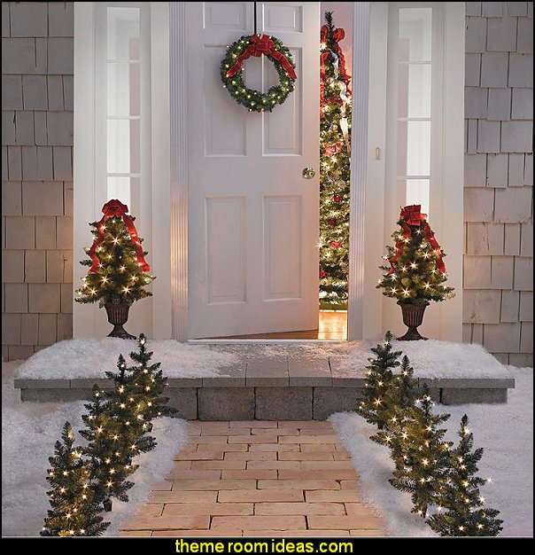 christmas decorating Holiday Entry christmas decorations Christmas decorating ideas - Christmas decor - Christmas decorations - & Decorating theme bedrooms - Maries Manor: Christmas decorating ideas ...