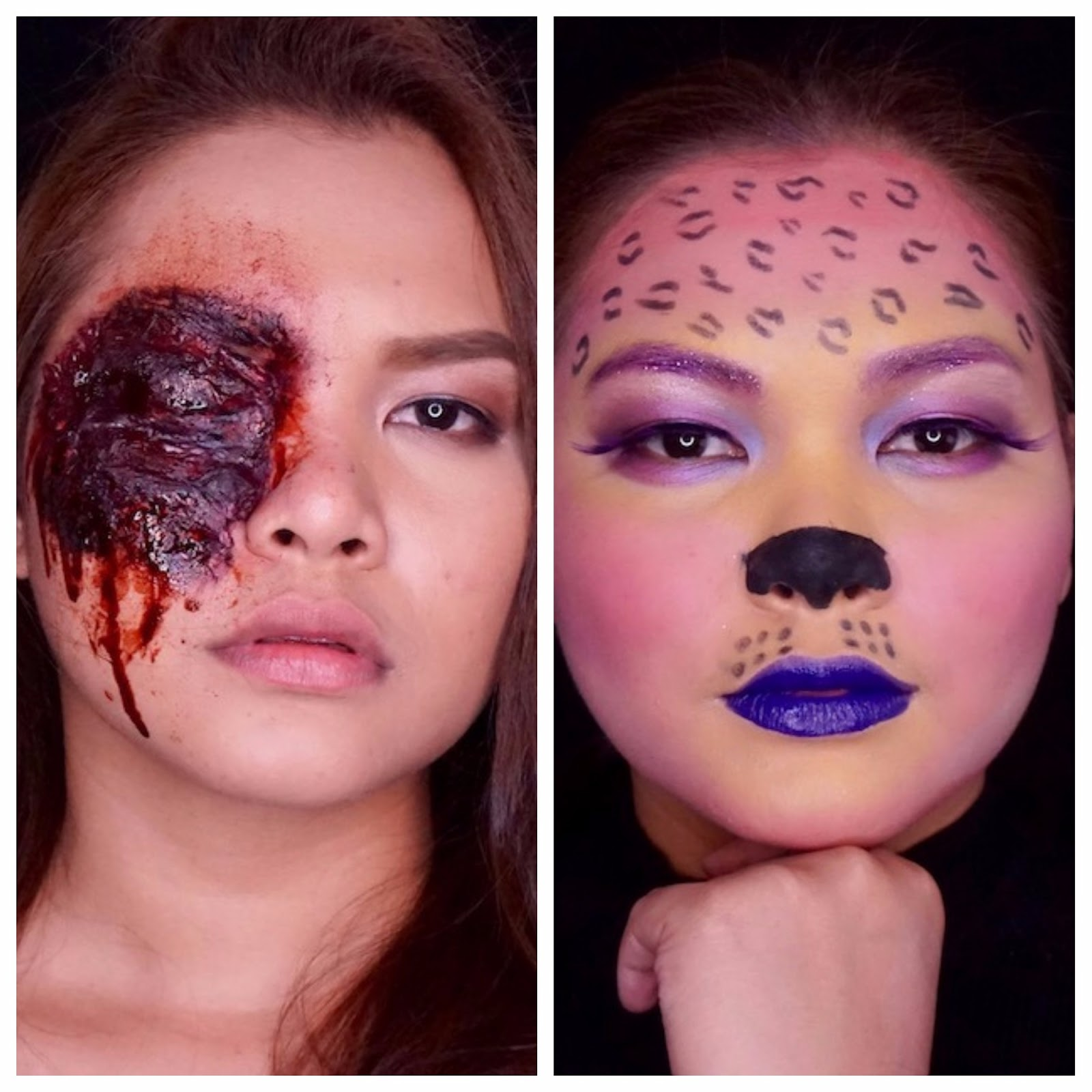 One brand makeup tutorial bys 45 minute halloween looks gore and got no time or skills for awesome halloween makeup youre reading the right post then in this one makeup tutorial series ill share with you two looks baditri Choice Image