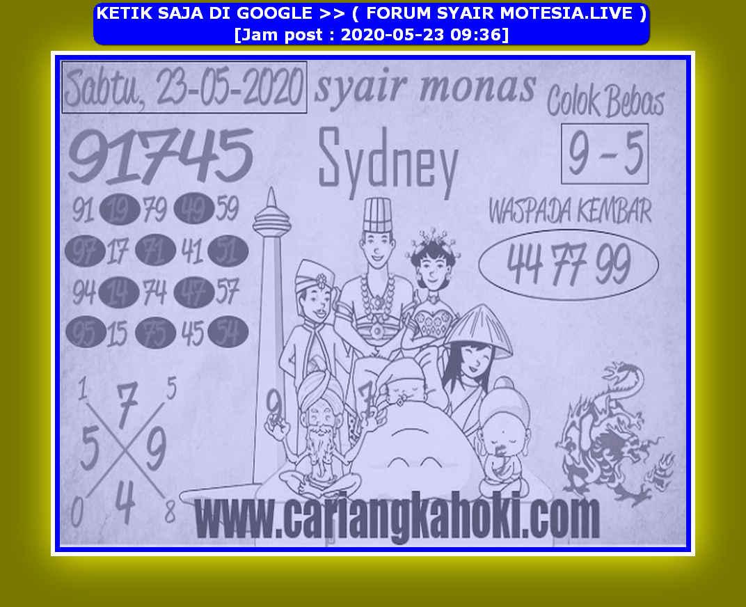 Kode syair Sydney Sabtu 23 Mei 2020 149