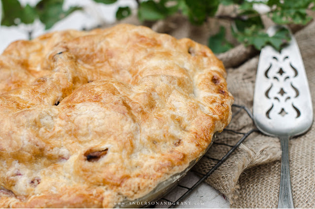 Learn how to make an apple cranberry pie that is bursting with fall flavor.  |  www.andersonandgrant.com