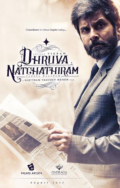 Vikram's Dhruva Natchathiram Official First Look Poster