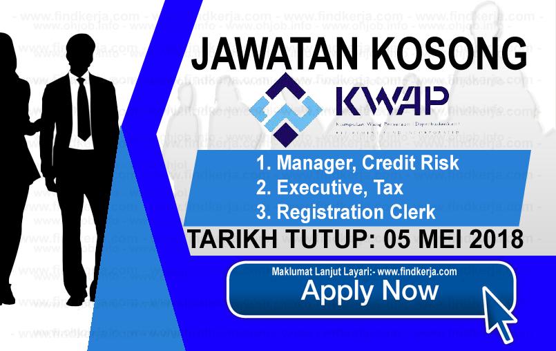 Jawatan Kerja Kosong KWAP - Kumpulan Wang Persaraan logo www.findkerja.com mei 2018