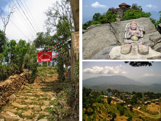 Hay que subir 1.500 escaleras hasta el palacio real de Gorkha