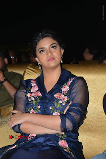 Actress Keerthi Suresh Stills in Blue Long Dress at Nenu Local Audio Launch  0044.JPG