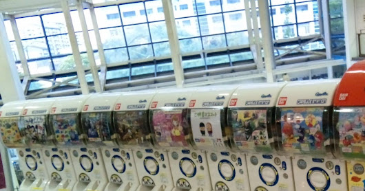 "What can you get from ""Gashapon""?"