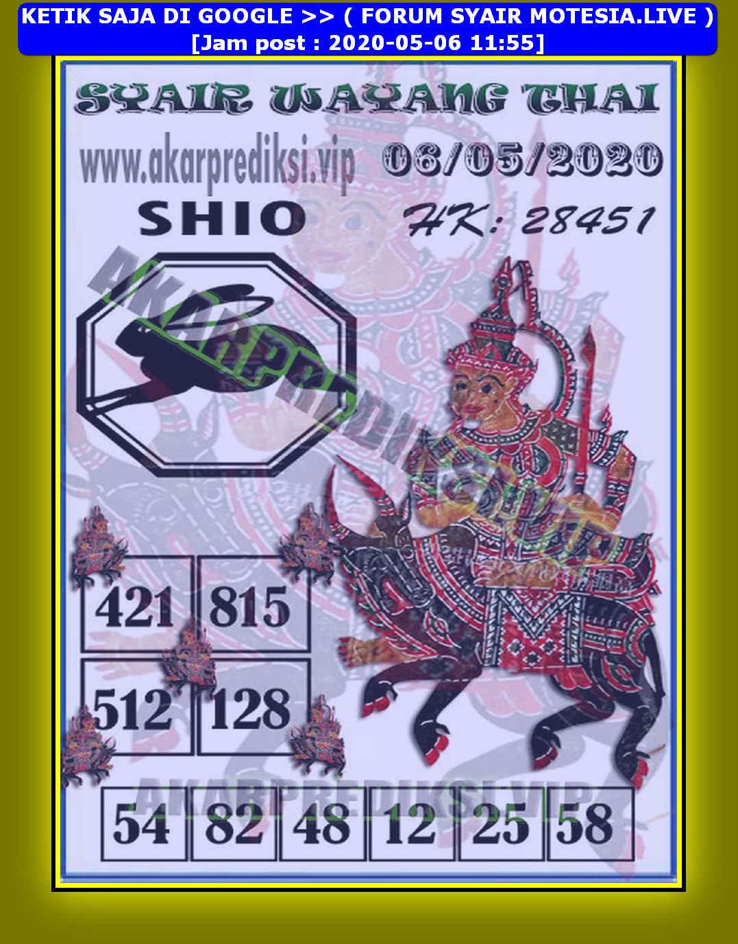 Kode syair Hongkong Rabu 6 Mei 2020 237