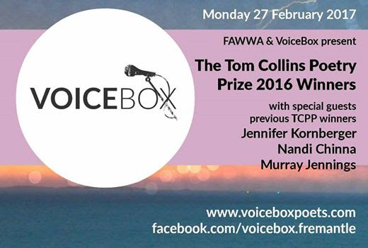 Tom Collines Poetry Prize Reading in Freo