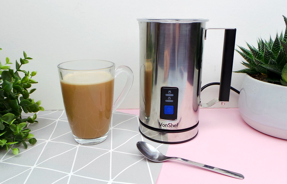 VonShef Electric Milk Frother And Warmer