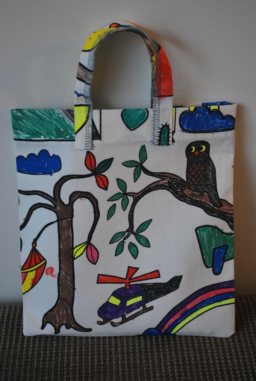 nellekus kleurplaat tas
