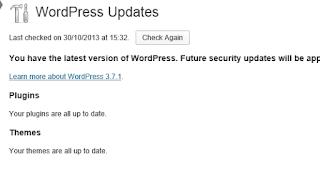 WordPress Update Page