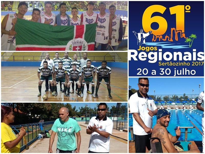61º Jogos Regionais Sertãozinho 2017 Guaíra SP