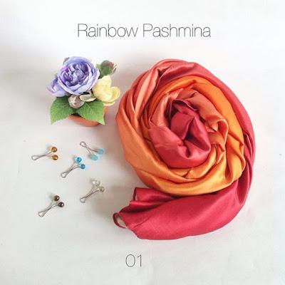 Rainbow Pashmina - www.jilbablicious.com