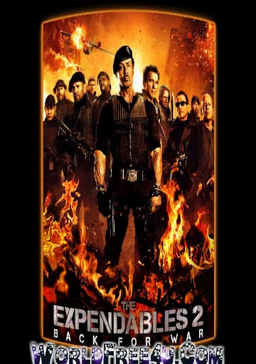 Poster Of The Expendables 2 (2012) Full Movie Hindi Dubbed Free Download Watch Online At worldfree4u.com