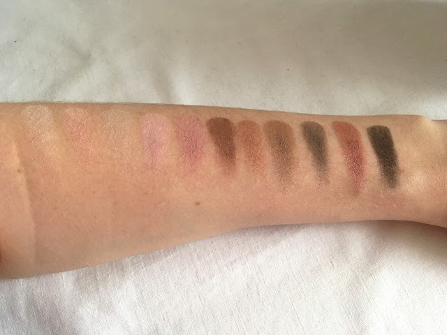 Maybelline the blushed nude swatches