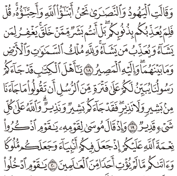 Tafsir Surat Al-Maidah Ayat 16, 17, 18, 19, 20