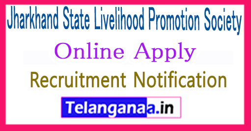 Jharkhand State Livelihood Promotion Society JSLPS Recruitment Notification 2017 Apply