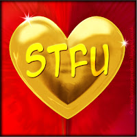 'STFU' text on gold heart free image for texting