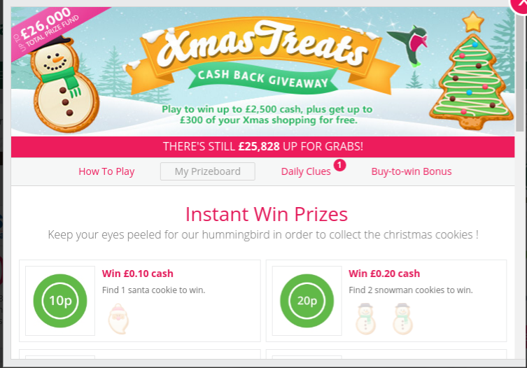 Topcashback xmas treats giveaway ideas