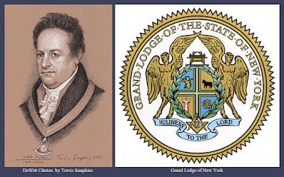 DeWitt Clinton. Past Grand Master. Grand Lodge of New York. by Travis Simpkins