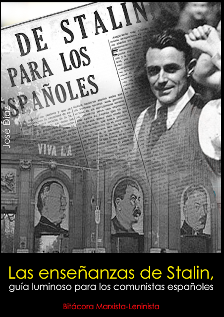 Las enseñanzas de Stalin, guía luminoso para los comunistas españoles Portada