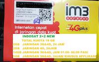 KARTU PERDANA DATA INDOSAT 4GB ( 2GB + 2 GB ) KUOTA 4 GB