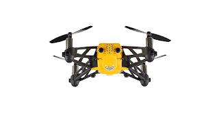 drone Minidrone Parrot Airbone Cargo Travis, color negro y amarillo