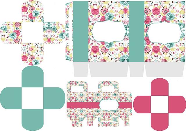 Cajas del Kit Shabby Chic Especial para Imprimir Gratis, para Fiesta de 15 Años.
