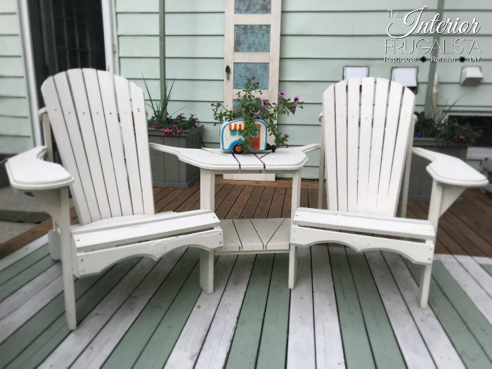 Budget Friendly Deck Makeover Series - Refreshed Adirondack Furniture
