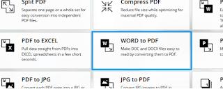 Word to PDF Ilovepdf online