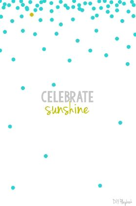 free printable for summer - celebrate sunshine