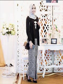 model baju batik rok span panjang