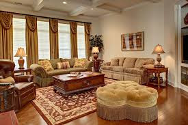 ... Country Style Living Room. Reddish Brown Colored Rug That Matches To  The Atmosphere Of The Countryside. Combined With Furniture That Have  Similar Colors ...