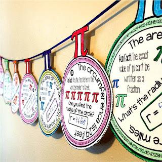 Pi Day math pennant ornaments