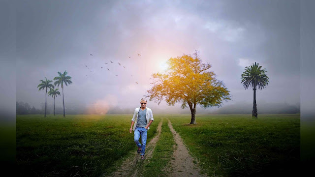 Amazing Sun Rising Nature Photo Picsart Manipulation